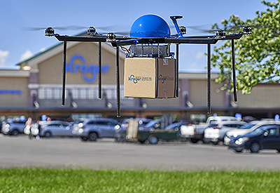 Kroger to Provide Grocery Delivery Via Drone Express